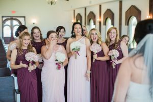 Chapel Bridesmaid First Look