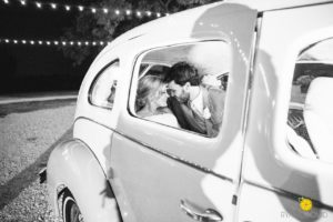 Vintage Car Bride and Groom McKinney